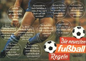 Fussball Fussball Regeln Humor  Kat. Sport