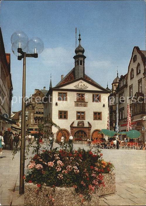 Bad Kissingen Marktplatz mit Rathaus Kat. Bad Kissingen