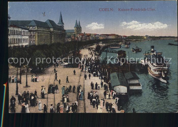 Koeln Rhein Kaiser Friedrich Ufer Kat. Koeln
