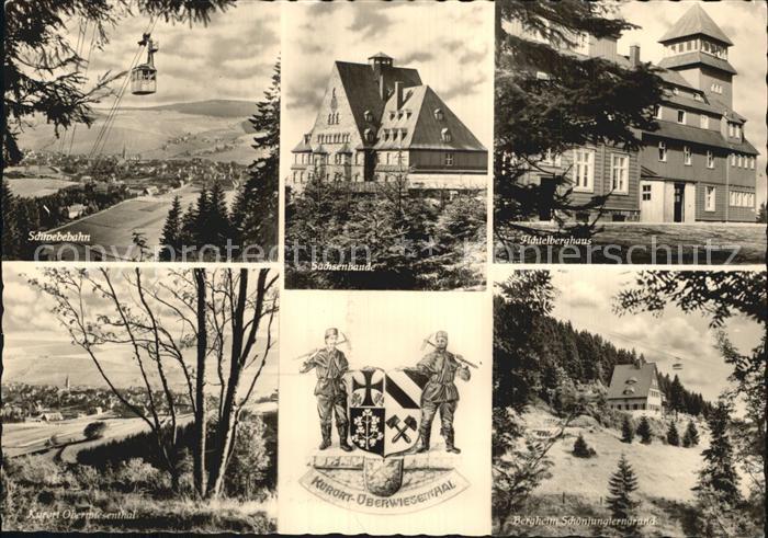 Oberwiesenthal Erzgebirge Schwebebahn Sachsenbaude Fichtelberghaus Kat. Oberwiesenthal