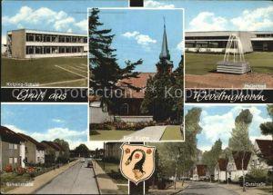 Wevelinghoven Kolping Schule Hallenbad Evangelische Kirche Birkenstrasse  Kat. Grevenbroich