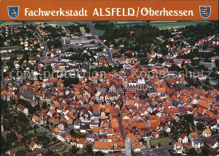 Alsfeld Altstadt Fachwerkstadt Fliegeraufnahme Kat. Alsfeld