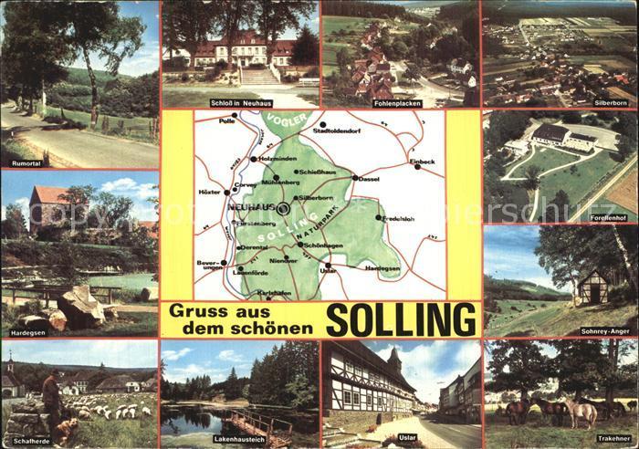 Neuhaus Solling Rumortal Schloss Fohlenplacken Silberborn Forellenhof Sohnrey Anger Trakehner Uslach Lakenhausteich Hardegsen Schafherde Kat. Holzminden