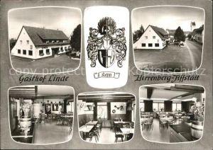 Affstaett Gasthof Linde Innen  und Aussenansicht Kat. Herrenberg