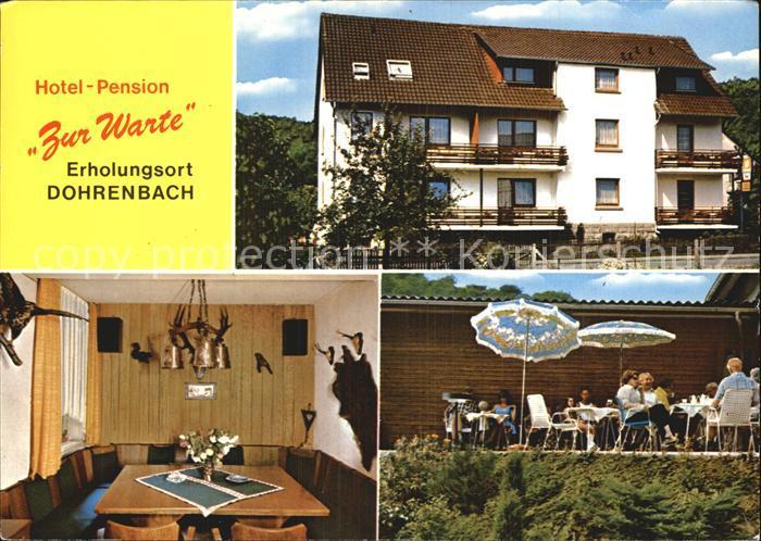 Dohrenbach Hotel Pension Zur Warte Terrasse Kat. Witzenhausen