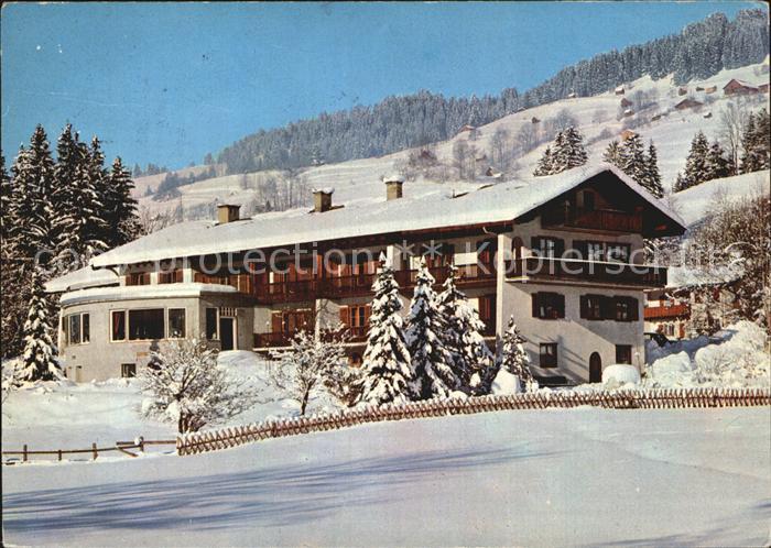 Hindelang Alpenkurhaus Wechs Winterpanorama Kat. Bad Hindelang