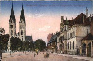 Halberstadt Domplatz Postgebaeude Kat. Halberstadt