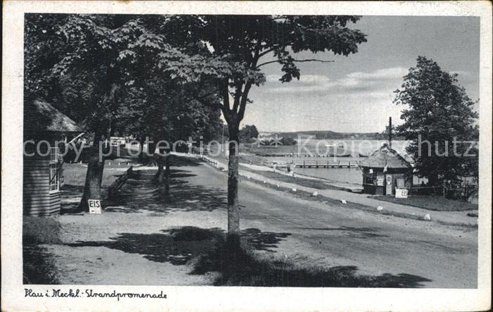 Plau Mecklenburg Strandpromenade Kat. Plau See