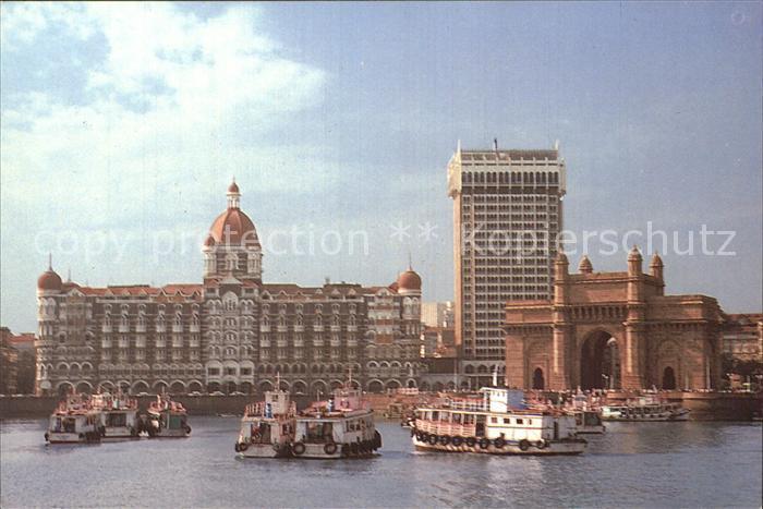 Bombay Mumbai Hotel Taj Mahal with gateway of India