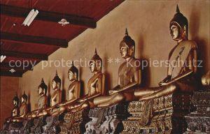 Bangkok Gallery of Buddha Statues in Wat Pho Kat. Bangkok