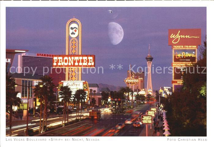 Las Vegas Nevada Boulevard Strip bei Nacht Kat. Las Vegas
