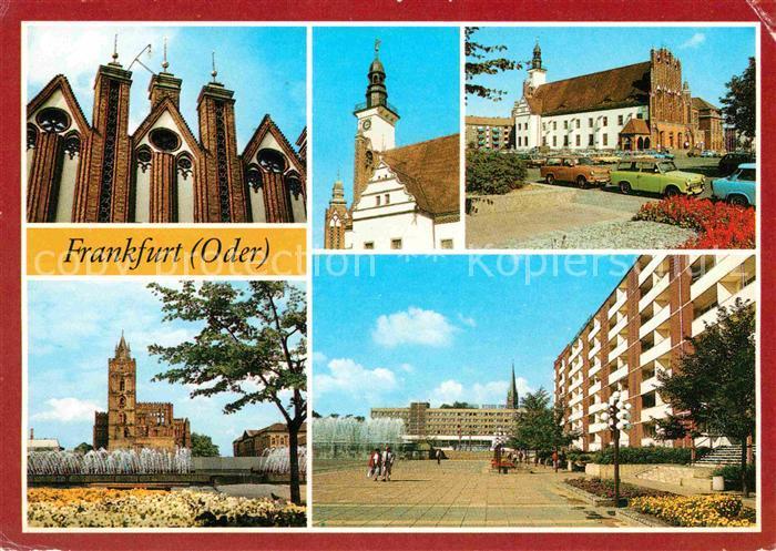Frankfurt Oder Rathaus Marienkirche Hotel Stadt Frankfurt Kat. Frankfurt Oder