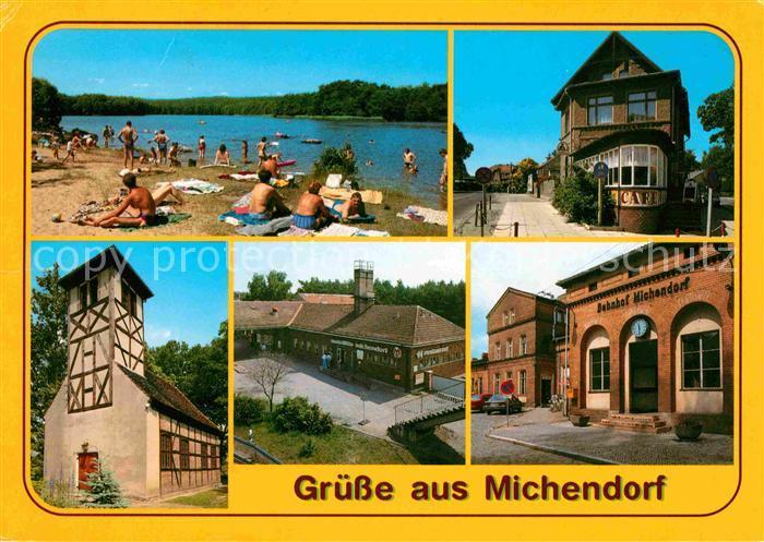 Michendorf Lienewitzsee Cafe am Kreuzpunkt Kirche Raststaette Bahnhof Kat. Michendorf