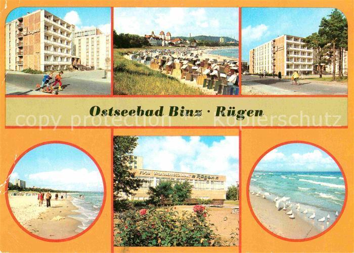 Binz Ruegen FDGB Erholungsheime Rugard und Stubbenkammer Kurhaus Strand FDGB Urlauberrestaurant Ruegen Moewen Kat. Binz