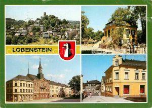 Lobenstein Bad Alter Turm Parkpavillon Markt Rathaus Fussgaengerzone