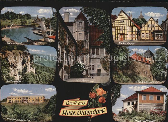 Hessisch Oldendorf Schwimmbad Hohenstein Berliner Jugendheim Muenchhauser Hof Marktplatz Schloss Schaumburg Haus Niedersachsen Kat. Hessisch Oldendorf