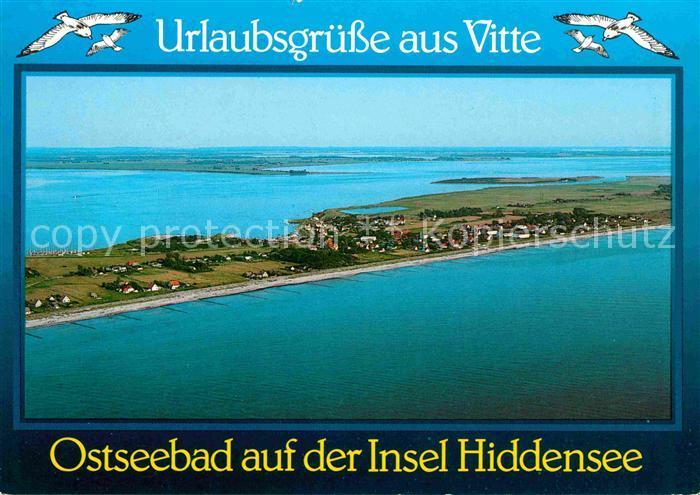 Insel Hiddensee mit Vitte Fliegeraufnahme Kat. Insel Hiddensee