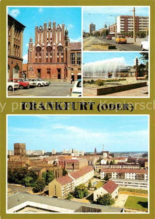 Frankfurt Oder Rathaus Giebelseite Karl Marx Str Wasserspiele Teilansicht Kat. Frankfurt Oder