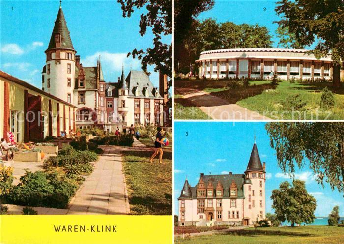 Klink Waren Schloss Rundgaststaette an der Mueritz Schloss Kat. Klink Waren