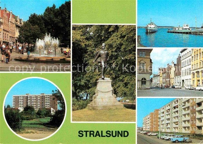 Stralsund Mecklenburg Vorpommern Ossenreyer Str Rudolf Leonhard Weg Ferdinand von Schill Denkmal Anlegestelle Muehlenstrasse Am Heinrich Heine Ring Kat. Stralsund