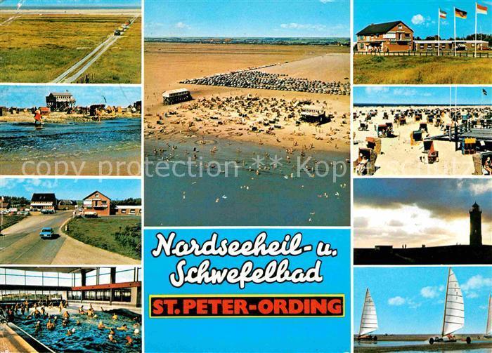 Boehl St Peter Ording Strand Wellenbad Leuchtturm Gasttaette Strandsegeln Kat. Sankt Peter Ording