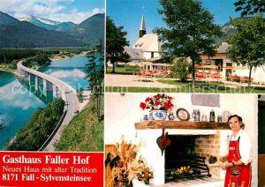 Fall Bad Toelz Gasthaus Faller Hof Kamin Sylvensteinsee Bruecke Alpenblick