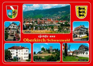 Oberkirch Baden Bachanlage Stadtblick Gerberei Rathaus Ruine Schauenburg Obere Linde Kat. Oberkirch