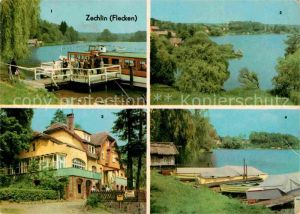 Zechlin Flecken Dampferanlegestelle Am Schwarzen See FDGB Erholungsheim Elisenhoehe Seeidyll