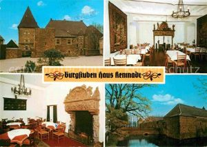 Hattingen Ruhr Burgstuben Haus Kemnade Speisesaal Kaminzimmer Kat. Hattingen