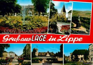 Lage Lippe Sedanplatz Hermannsdenkmal Marktkirche Wilhelmsburg Langestrasse Kat. Lage