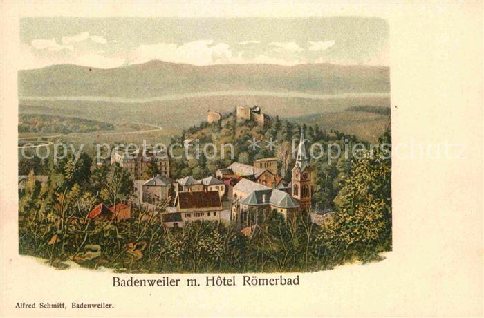 Badenweiler Hotel Roemerbad Burgruine Kat. Badenweiler