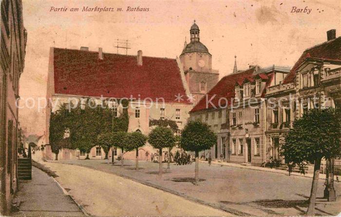 Barby Elbe Marktplatz Rathaus Kat. Barby