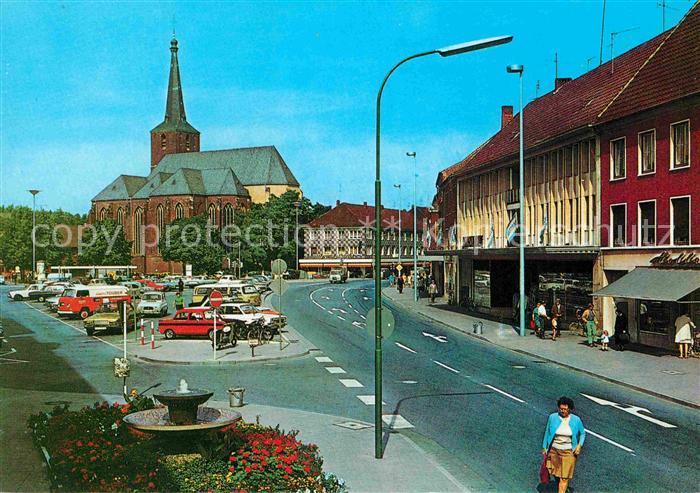 Geldern Markt Parkplatz Kirche Kat. Geldern