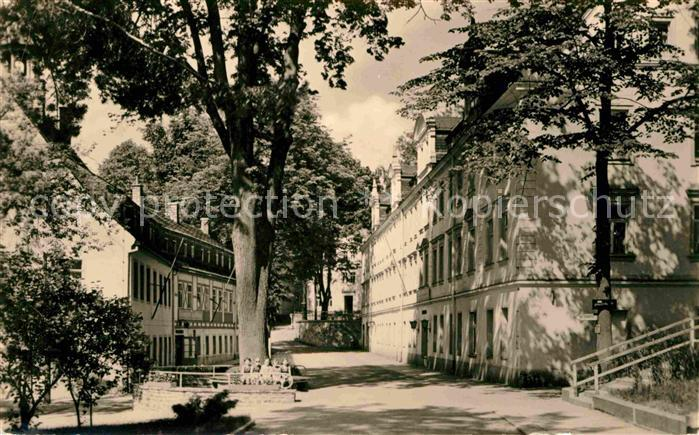 Warmbad Wolkenstein Wismut Sanatorium Kurhaus Badehaus Kat. Wolkenstein