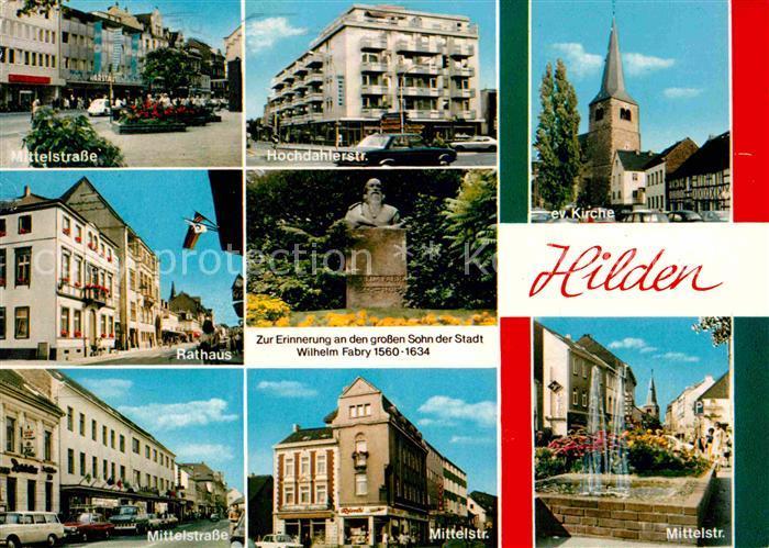 Hilden Duesseldorf Mittelstrasse Kirche Kat Duesseldorf