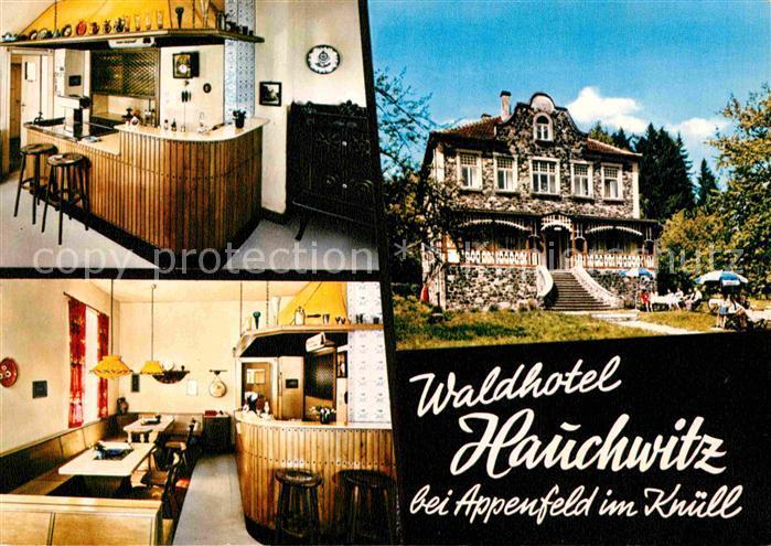 Appenfeld Waldhotel Jagdschloesschen Hauchwitz Gaststube Kat. Knuellwald
