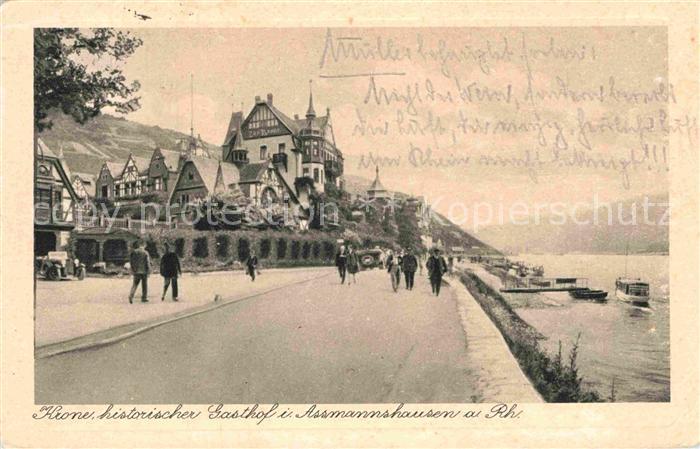Assmannshausen Krone historischer Gasthof