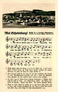 Scheibenberg Panorama Gedicht Kat. Scheibenberg Erzgebirge