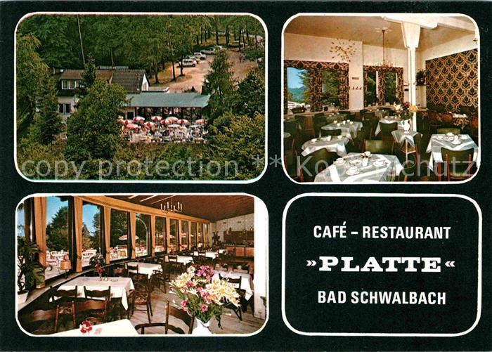 Bad Schwalbach Cafe Restaurant Platte Kat. Bad Schwalbach