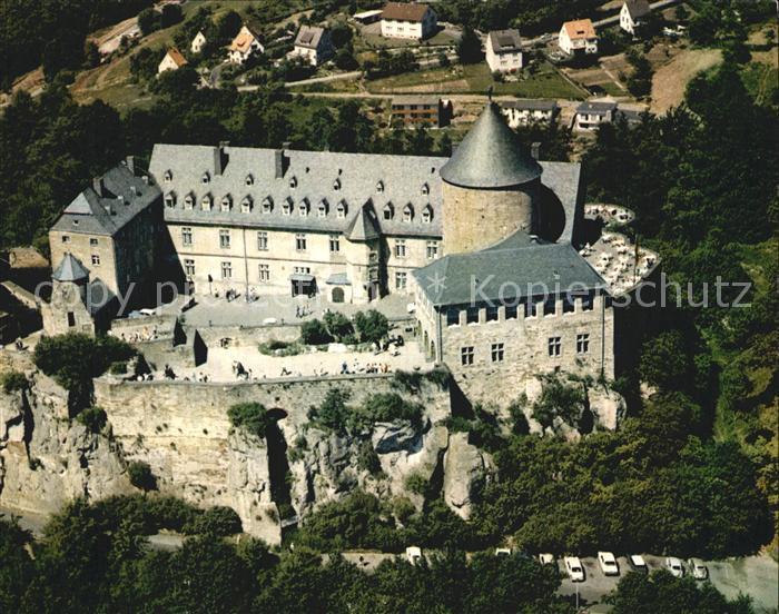Schloss Waldeck Fliegeraufnahme Schloss am Edersee Kat. Waldeck