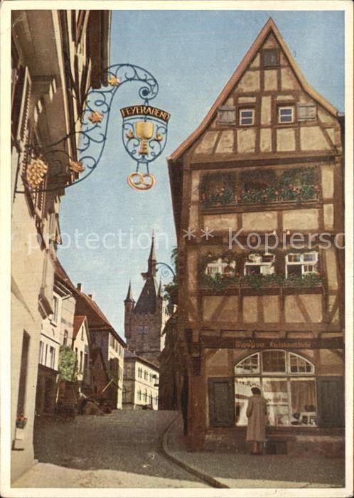 Bad Wimpfen Strassenpartie Neckar Kat. Bad Wimpfen