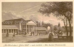 Wiesbaden Alt Wiesbaden 1840 Alter Kursaal nach Stahlstich Kat. Wiesbaden