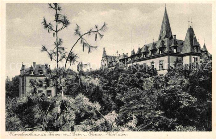 Wiesbaden Krankenhaus Wiesbadener Verein Rotes Kreuz Kat. Wiesbaden