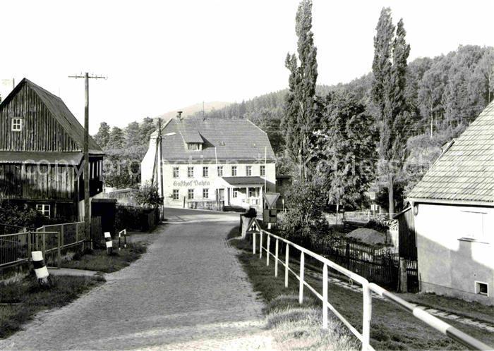 Langenhennersdorf Gasthof Bahra Kat. Bad Gottleuba Berggiesshuebel