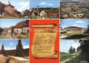 St Andreasberg Harz Glockenberg Schuetzenstrasse Kurhaus Sommerrodelbahn  Kat. Sankt Andreasberg