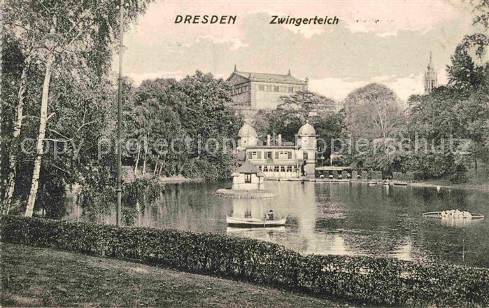 Dresden Zwingerteich Kat. Dresden Elbe