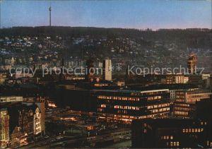 Stuttgart Blick zum kleinen Schlossplatz Fernsehturm Kat. Stuttgart