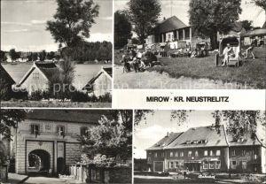Mirow Mirow See Strand Torhaus Bahnhof Kat. Mirow Mecklenburg