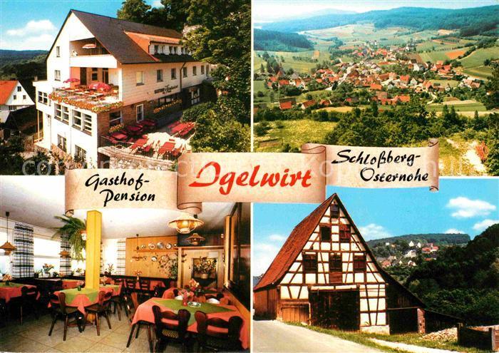 Schnaittach Gasthaus Pension Igelwirt Schlossberg Osternohe Kat. Schnaittach