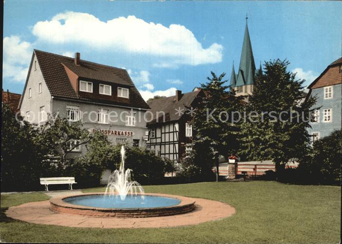 Bodenfelde Sommerfrische Reiherbachplatz Springbrunnen Kat. Bodenfelde